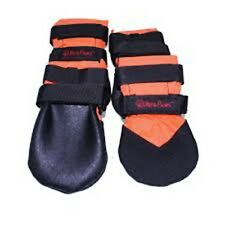 Hunting Dog Boots For Paw and Pad Protection by Ultra Paws - (Orange- Large)