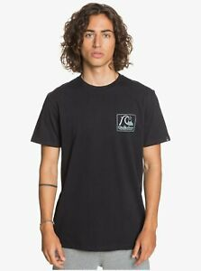 QUIKSILVER Mens Beach Tones Short Sleeve T-Shirt Top Tee - Black