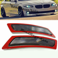 For 14-Up BMW F10 5-Series CRYSTAL SMOKE Bumper Reflector Side Marker Lights