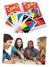 Standard 108 UNO Playing Cards Game Family Friend Travel Instruction Kid Fun Toy