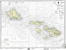 NOAA Chart Hawaii to Oahu 27th Edition 19340