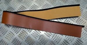 "Genuine British Military Replacement Dress Hat 2"" Split Leather Hatband SBC10"