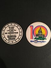 Vintage 1981 Walt Disney Word 10th Anniversary Pin & Universal Studios Pin Back