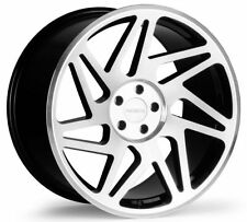 18x8.5 Regen5 R31 5x120  +36  Machine Black Wheels (Set of 4)