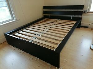 IKEA Bed frame, black, Queen size LOCAL PICK-UP ONLY Located at Quincy, MA 02171
