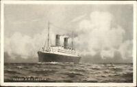 Cunard Line Steamship RMS R.M.S. Caronia c1910 Unused Postcard