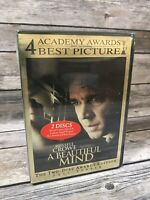 A Beautiful Mind (DVD, 2002, 2-Disc Set, Awards Edition) Russell Crowe NEW