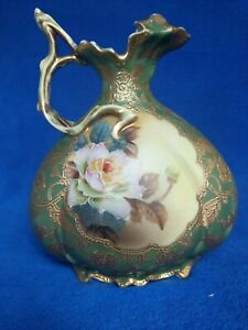 Nippon Ewer. Gold moriage and roses. RARE item, very hard to find.
