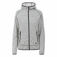 Trespass Crosswind Womens Full Zip Fleece Hoodie Classic Casual Grey Pullover