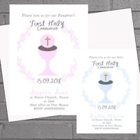 First Holy Communion Invitations Girls Boys 1st Childrens Party x 12+envs H01926