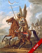 POLISH HUSSAR CAVALRY WITH ANGELS WINGSPAINTING REAL CANVAS ART PRINT