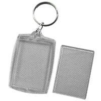 Practical Novelty Simple Rectangle Bag Keyring Hook Acrylic Keychain Gift Hot