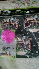 Vintage UNIVERSAL MONSTERS GIFT WRAP & Bow Wrapping Paper set