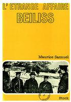 Livre l'étrange affaire Beiliss Maurice Samuel book