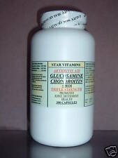 Glucosamine Chondroitin + MSM ~ 300 capsules, osteoarthritis, joint pain relief.