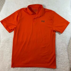 Under Armour Golf Polo Shirt Men's Medium HeatGear Loose Fit UA Performance EUC