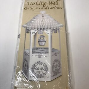 Wishing Well Gift Money Card Box Bridal Shower Wedding Reception Present Decor