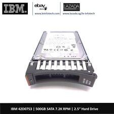 """IBM 42D0753 500GB 7.2K 2.5"""" SATA Hard Drive 42D0752 42D0756 System X3650 M2-M4"""