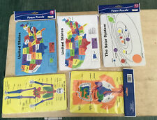 5-Home School Usa Map,Digestive System,Human Skeleton,Solar System Foam Puzzle