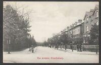Postcard Brondesbury near Kilburn London early view of The Avenue with policemen