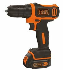 BLACK & DECKER TRAPANO AVVITATORE A BATTERIA 10,8 V BDCD12 1,5AH LITIO
