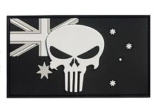 PVC Punisher on Australian Flag Patch - Subdued Finish - New