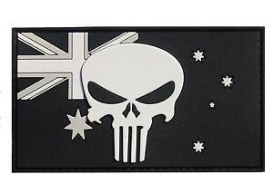 PVC Punisher on Australian Flag Patch - Subdued Finish - New
