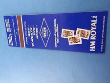 HM ROYAL COMPOUND INGREDIANTS SULPHERS CLAYS ACCELLERATORS  MATCHBOOK