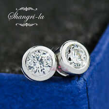 Unbranded Crystal White Gold Plated Stud Fashion Earrings