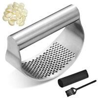 Stainless Steel Manual Garlic Press Crusher Squeezer Tool Masher Kitchen Tool US