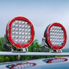 """2x9"""" 259W Round CREE LED Work Light spot Offroad Jeep Truck 4WD Driving Lamp"""