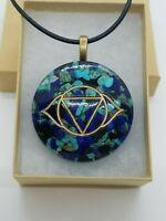 Lapis Lazuli, Turquoise, & Shungite Third Eye Chakra Orgone Necklace