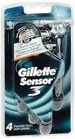Gillette Sensor3 Disposable Razors Men's 4 Each (Pack of 2)