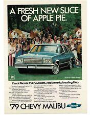 1979 Chevrolet Chevy MALIBU Blue Classic Sedan VTG PRINT AD