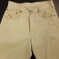 Diesel SADDLE Mens Vintage Jeans W30 L29 Beige Relaxed Fit Tapered High Rise