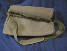 Chaps Canvas Messenger Bag Crossbody Lap Top Satchel Leather Handle EUC