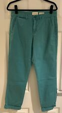 Anthropologie Mint Green Chino Cotton Trousers - Size 29 - New