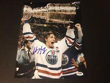 Wayne Gretzky Oilers Signed Auto 11x14 PHOTO PSA/DNA COA Letter
