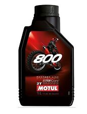 Huile MOTUL 800 moto Off Road Factory 1 litre 2 temps