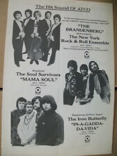 The Iron Butterfly-In-A-Gadda-Da-Vida/Soul Survivors- Mama Soul 1969 Ad- Atco