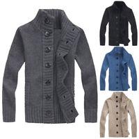 Men's Winter Knitwear Warm Coat Button Sweater Knitted Cardigan Jacket Outerwear