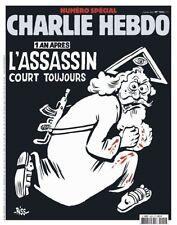 CHARLIE HEBDO  SPECIAL ATTENTAT 1 AN APRES PARIS NEWSPAPER JOURNAL 1224