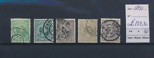 LN18310 Netherlands 1891 queen Wilhelmina fine lot used cv 154,3 EUR