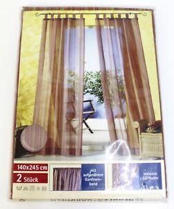 Schlaufen-Gardinen 2xSchlaufenschal Vorhang Polyester-Voile 140 x 245 cm