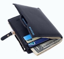 Bogesi PU Leather Bifold Wallet Credit Card Holder for Men's (Blue)