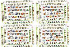NRN Designs SPORT Photo Frame Border Scrapbook Stickers Football Soccer 4 Sheets