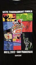 2012 Street Fighter 25th Anniversary T-shirt men sz XL Capcom Tournament Finals