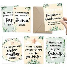 30+1 Meilenstein Foto- und Erinnerungs-Karten als Geschenk zur Geburt - A6