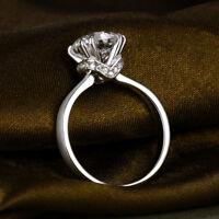 Ring Engagement 3 Ct Carat Diamond D Solitaire 14k White Gold Round Cut Wedding
