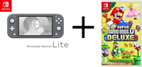 Mario Bros U Deluxe + Your Favorite Color for Nintendo Switch Lite! BRAND NEW